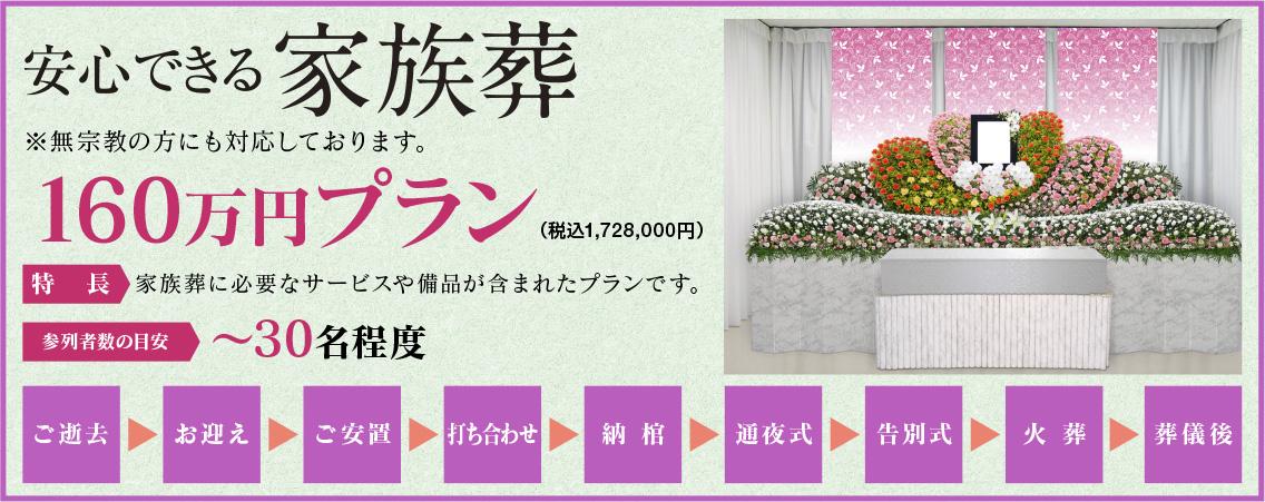 160万円プラン祭壇