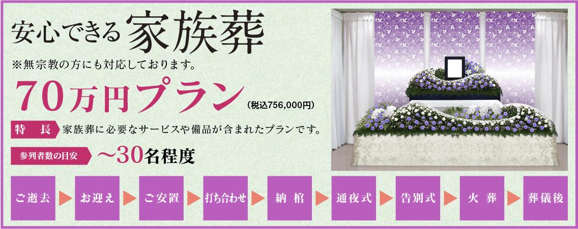 70万円プラン祭壇
